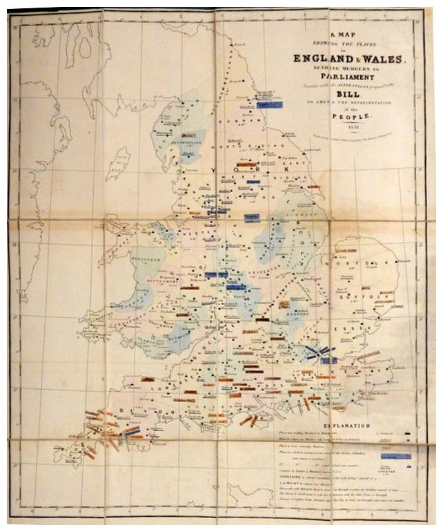A Map shewing the places in England: WYLD, James.
