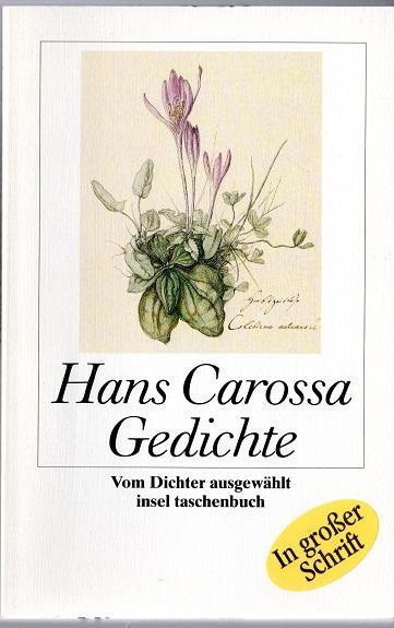 Gedichte, Großdruck - Carossa, Hans