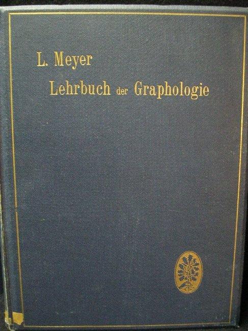 Lehrbuch der Graphologie: Meyer, L.:
