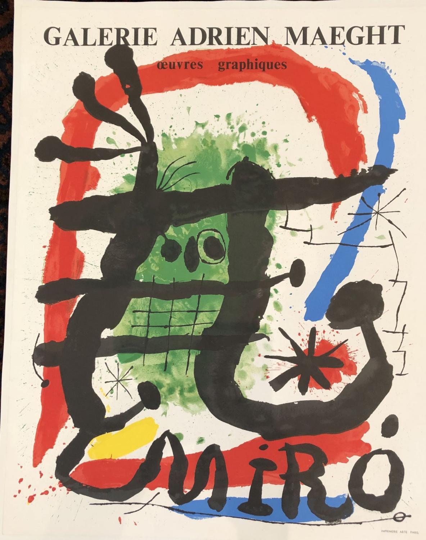 MourlotAndre Sauret, Paris limited edition vintage lithograph JOAN MIRO /'Affiches originales/' suite c1959
