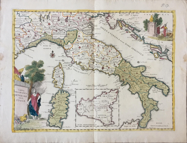 Cartina Geografica Italia Hd.Carta Geografica Generale Dell Italia By Albrizzi Giambattista 1750 Map Lux In Art Di Ermanno Bertelli