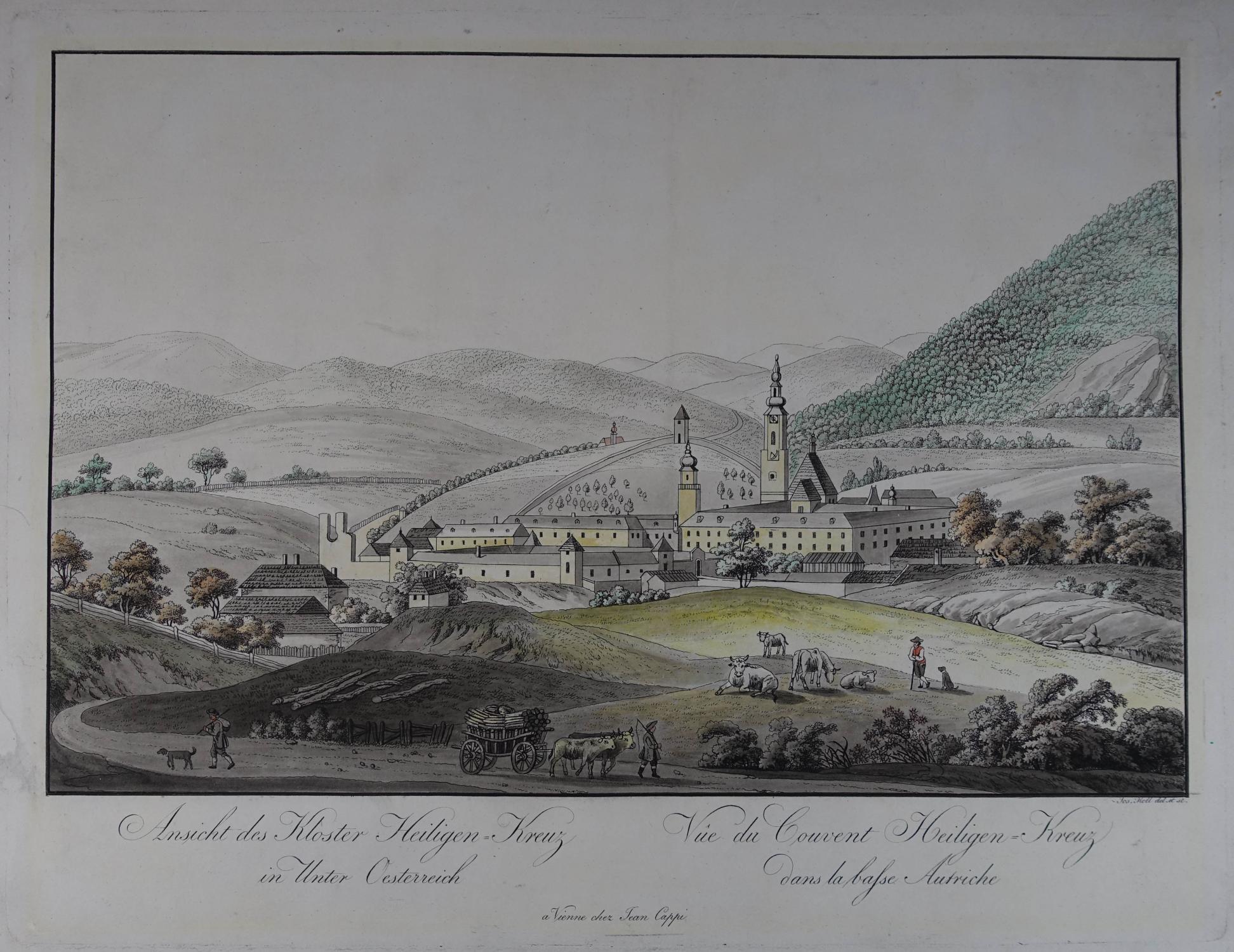 Ansicht des Kloster Heiligen-Kreuz in Unter Oesterreich: Heiligenkreuz