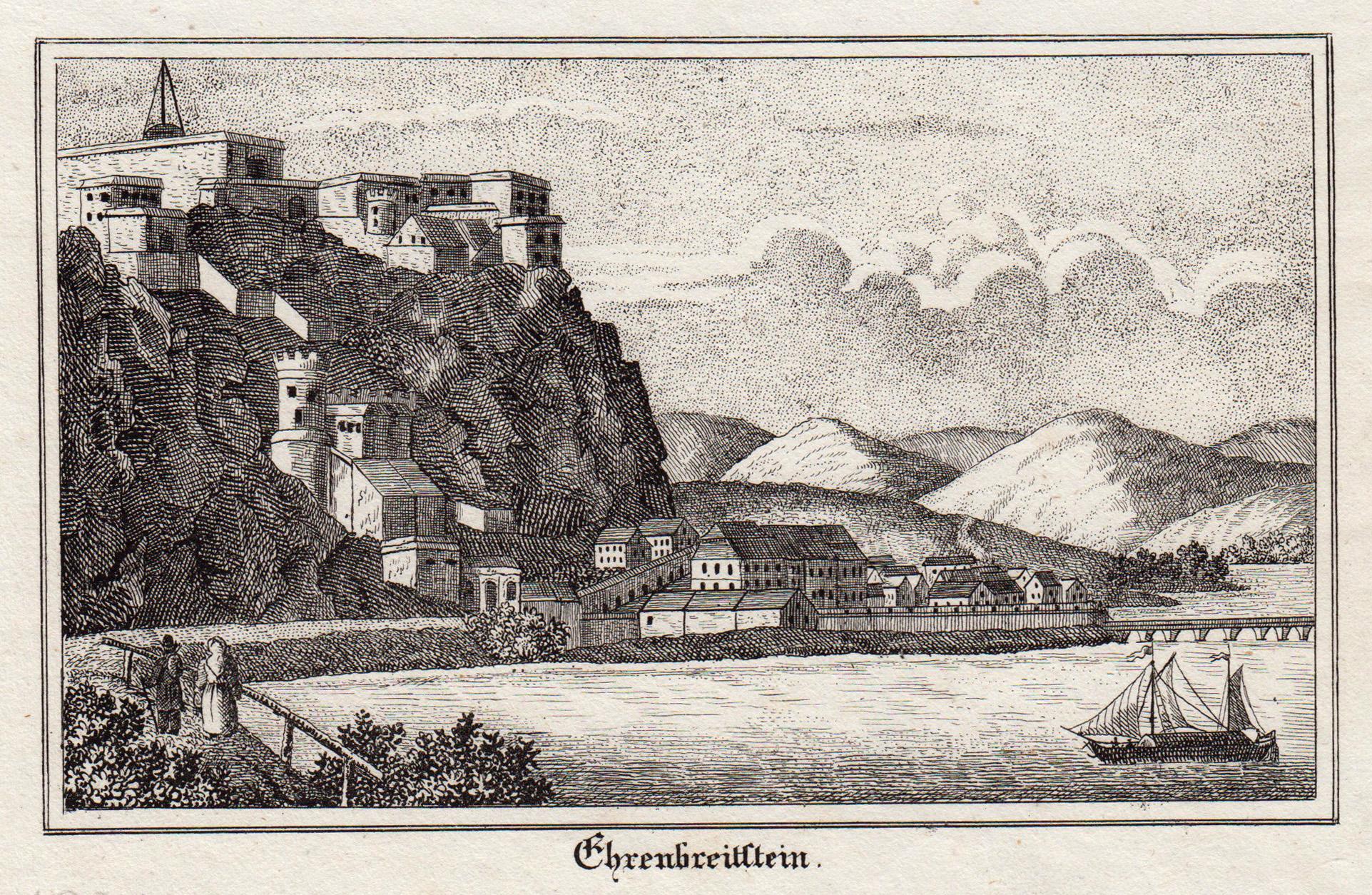 """Gesamtans., """"Ehrenbreitstein"""".: Koblenz: Ehrenbreitstein:"""