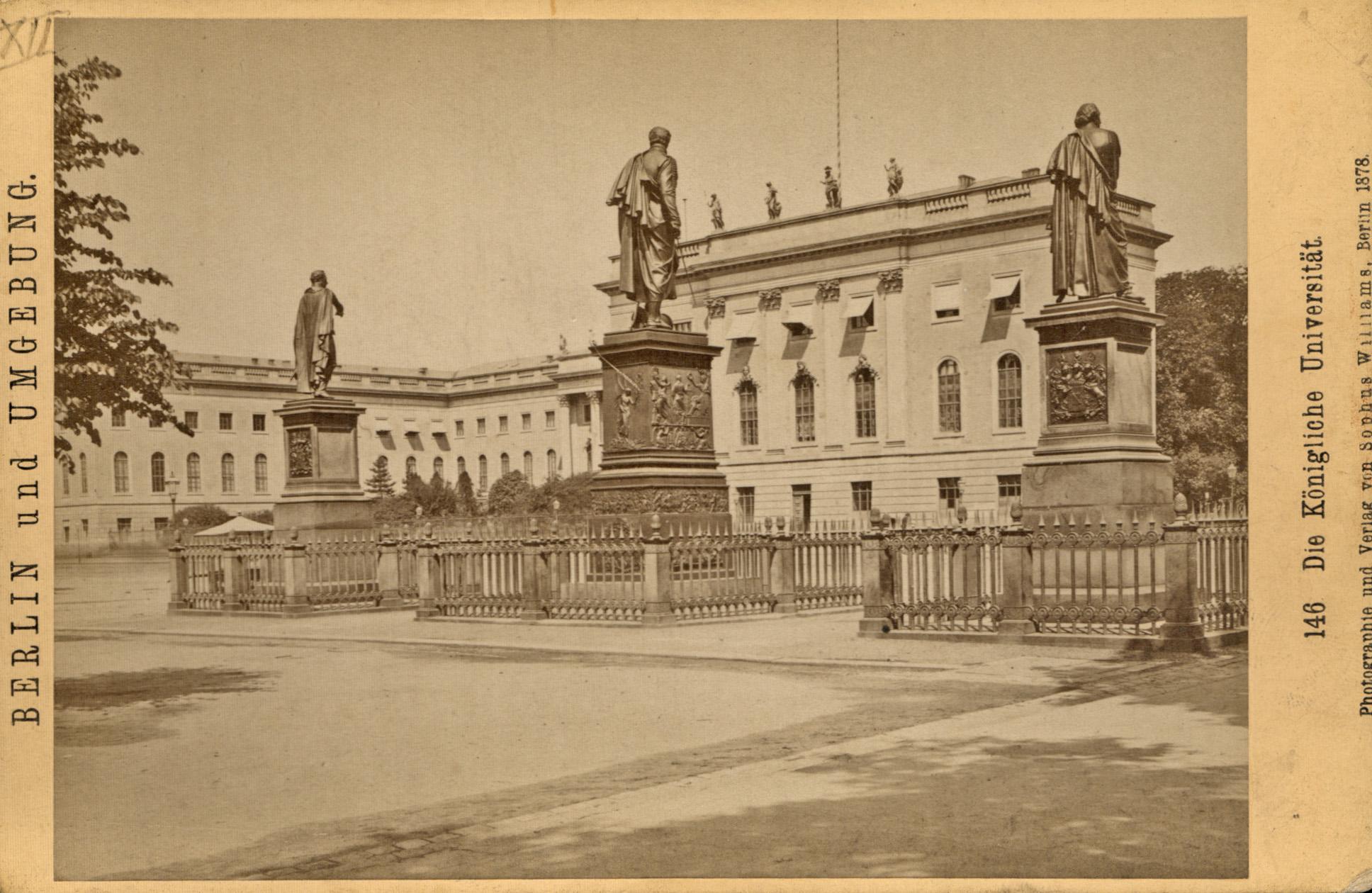 Die königliche Universität - Blick vom Opernplatz: Berlin - Universität