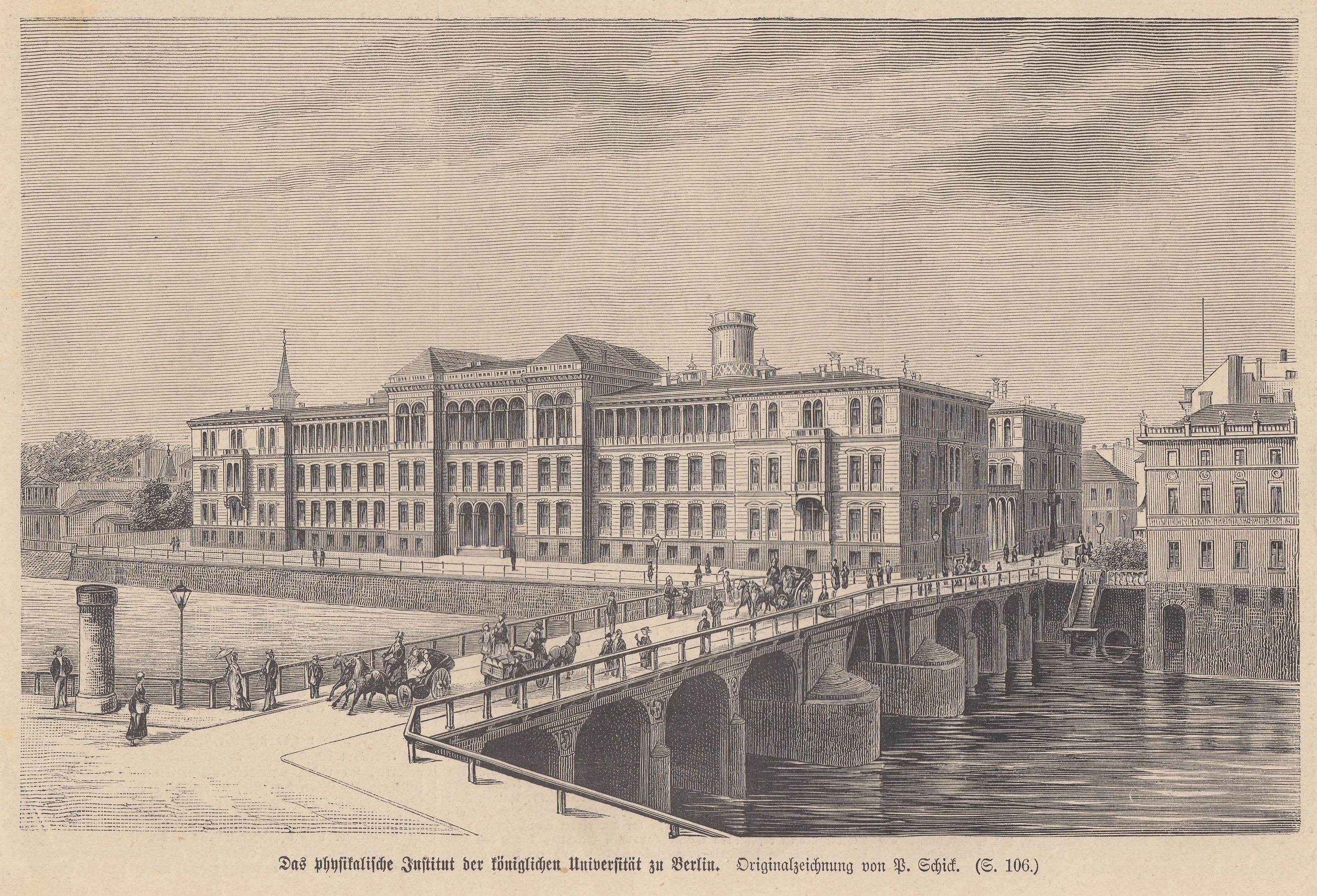 """Physikalisches Institut, """"Das physikalische Institut der königlichen: Berlin - Universität:"""