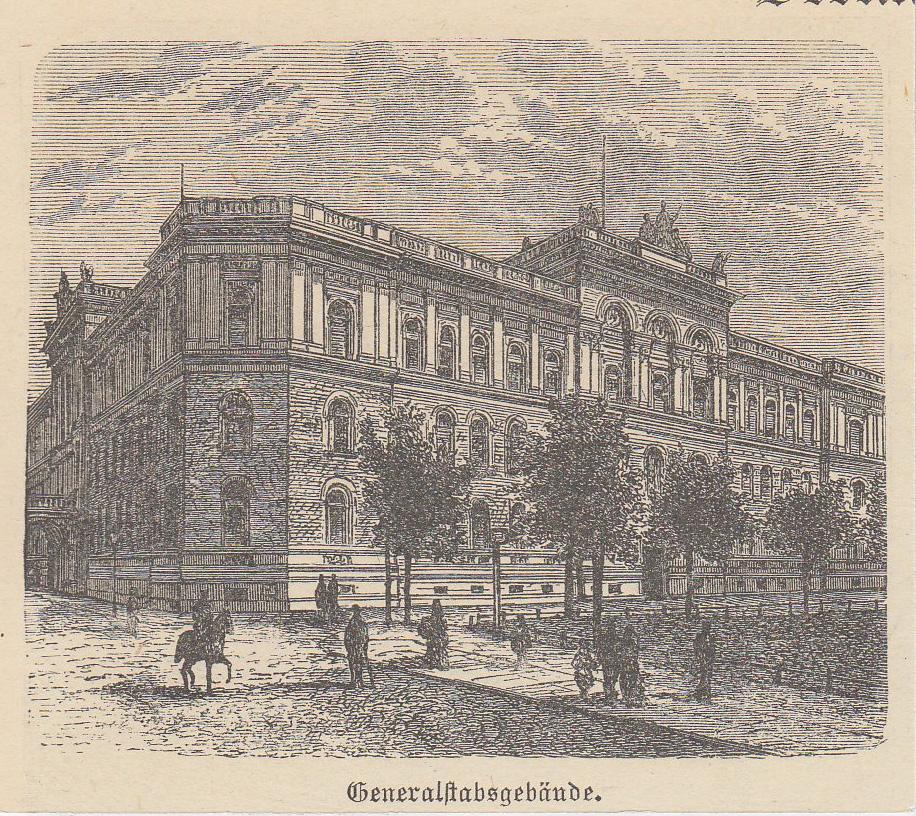 """Generalstabsgebäude, """"Generalstabsgebäude"""".: Berlin - Militärbauten:"""