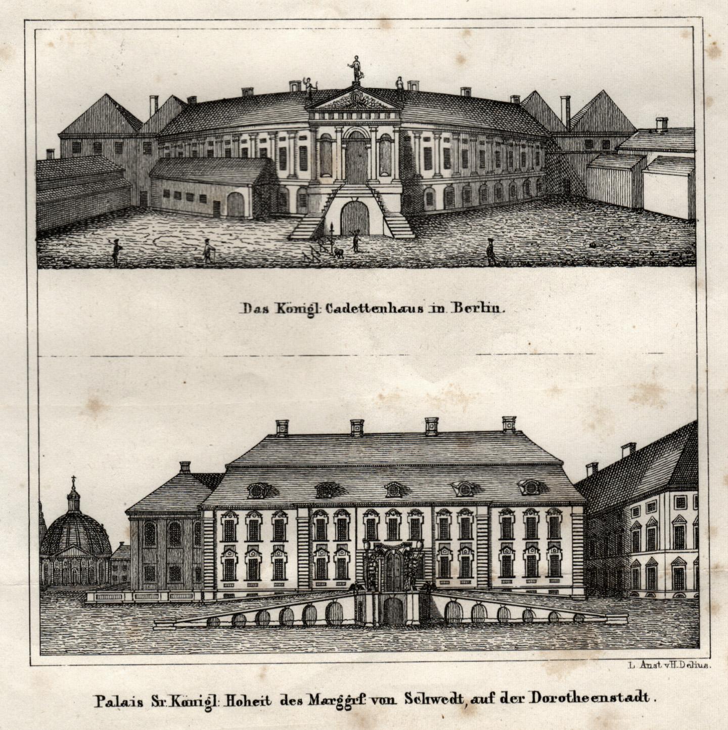 "Kadettenhaus, ""Das Königl. Cadettenhaus in Berlin"".: Berlin - Militärbauten:"