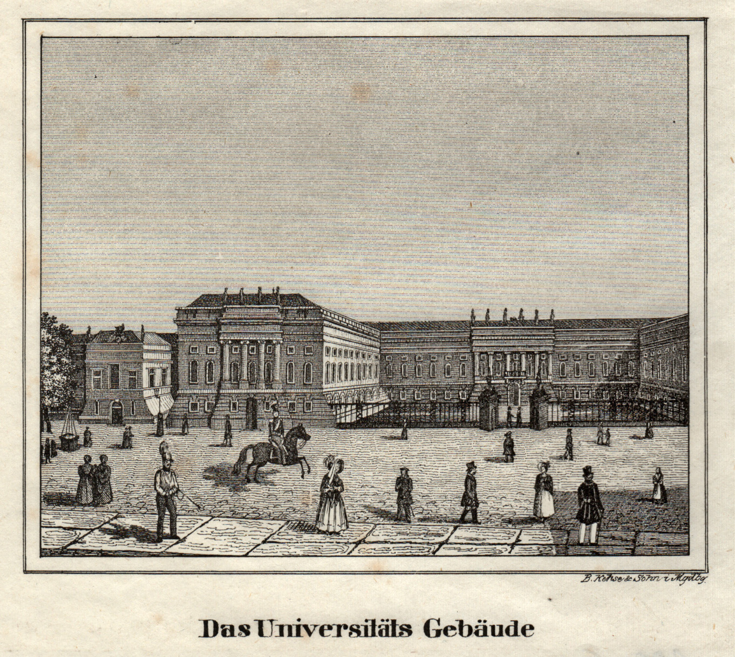 Das Universitäts Gebäude.: Berlin - Universität:
