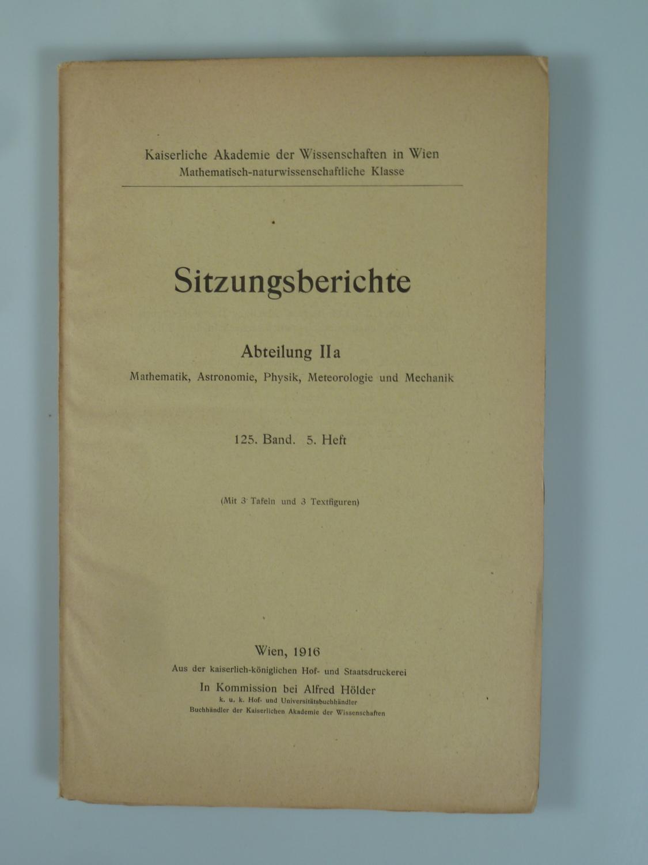 Das Bogenspektrum des Yttriums, des Erbiums und: EDER, Josef Maria.