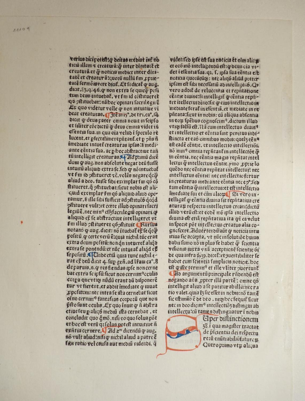 Super primum librum Sententiarum Petri Lombardi. (GW: Gregorius Ariminensis: