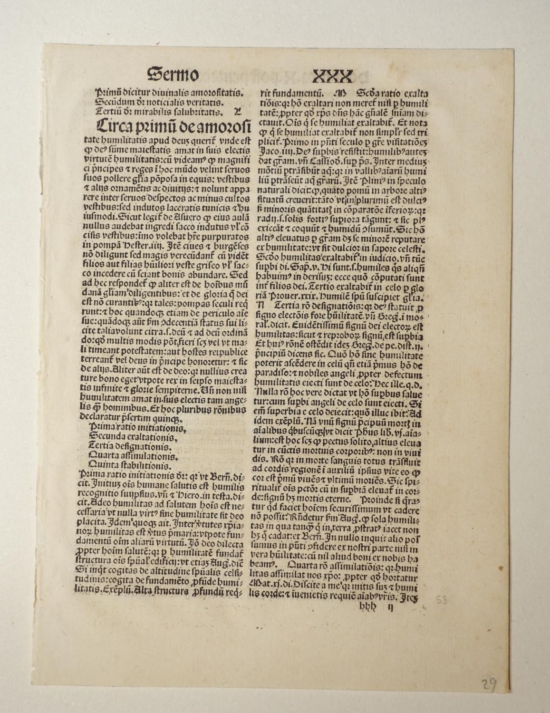 Sermones funebres (GWM 14682, HC 7548+). Blatt: Johannes de Sancto