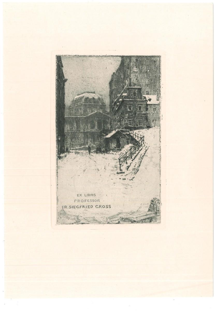 Ex Libris Professor Dr. Siegfried Gross. [Wien: KASIMIR, Luigi. Graphiker