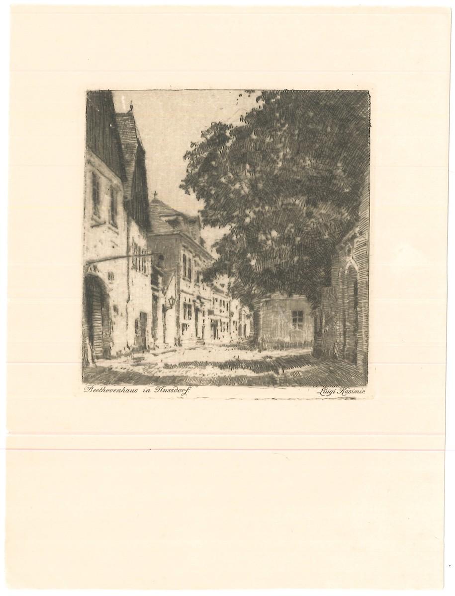 Beethovenhaus in Nussdorf.: KASIMIR, Luigi. Graphiker
