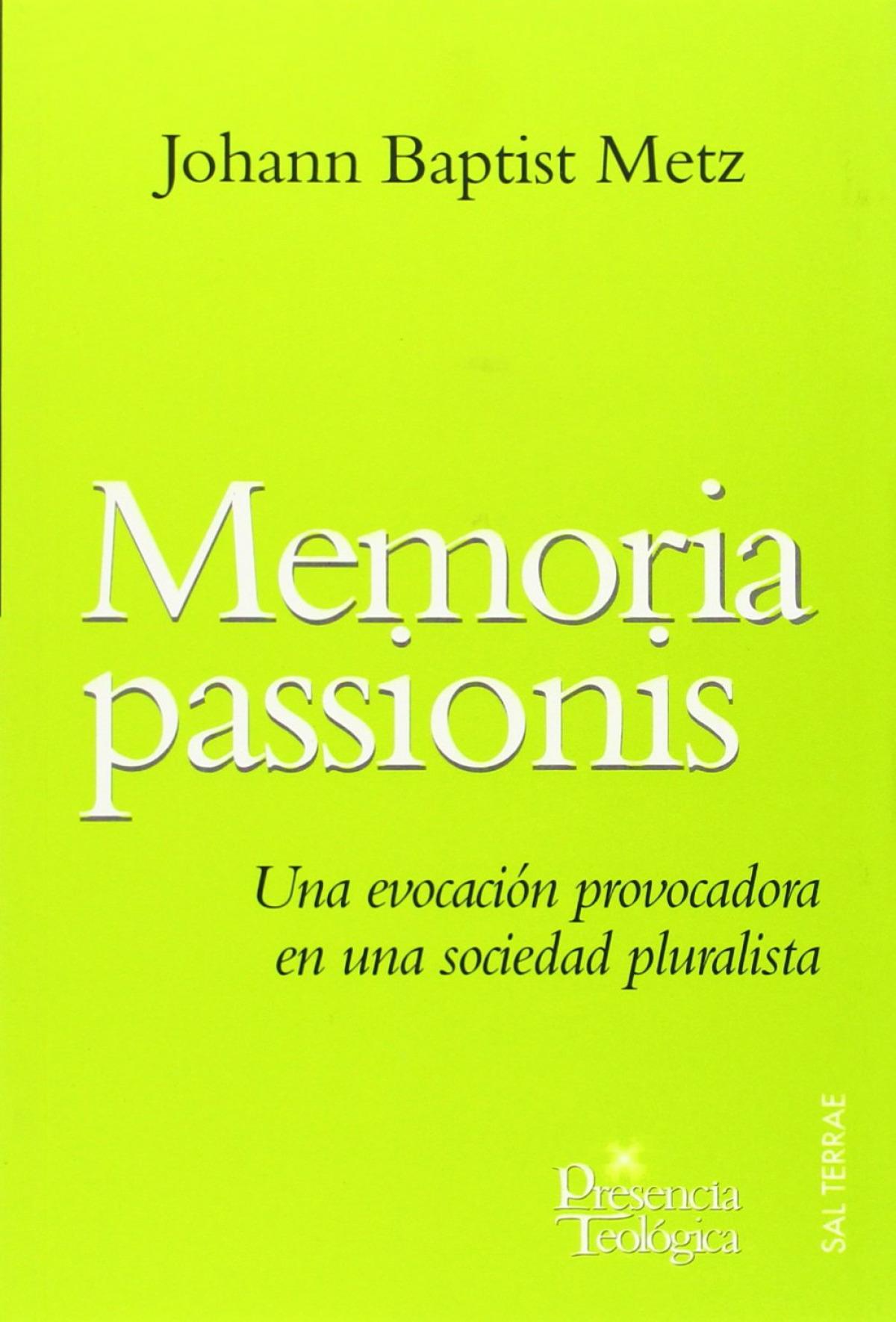 Memoria passionis - Metz, Johann Baptist