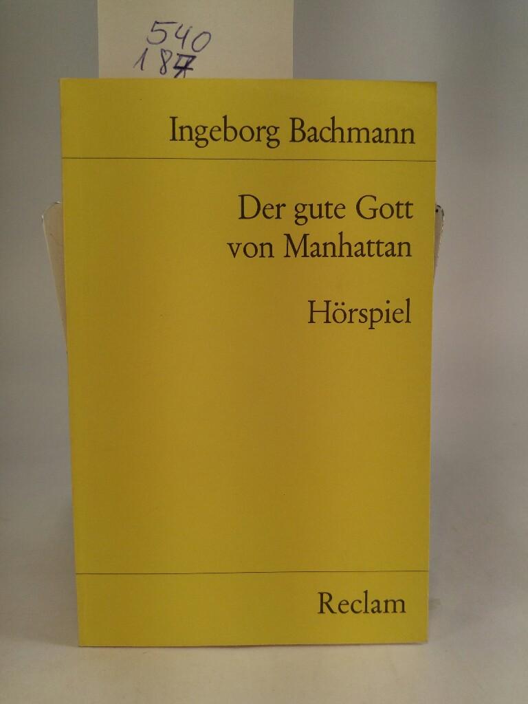 Der gute Gott von Manhattan: Ingeborg, Bachmann:
