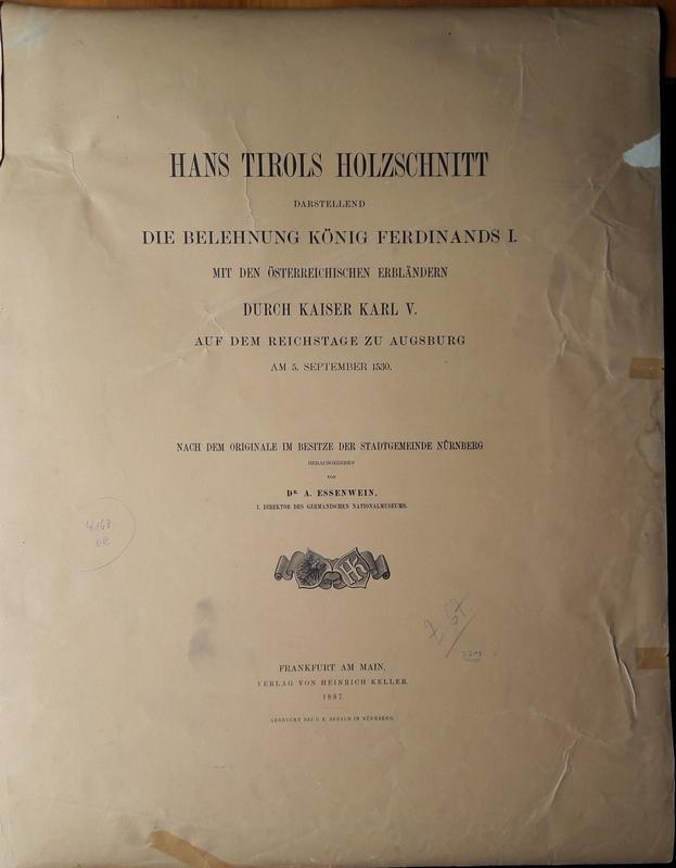 Reprint:] Hans Tirols Holzschnitt darstellend die Belehnung: Essenwein, A. (Hg.)