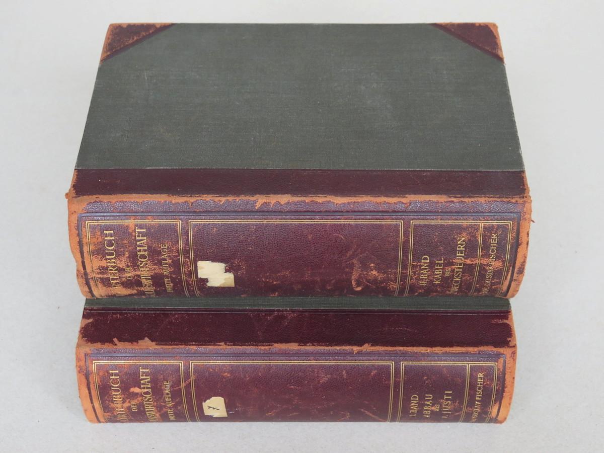 Wörterbuch der Volkswirtschaft in zwei Bänden. Dritte,: Elster, Ludwig (ed.)