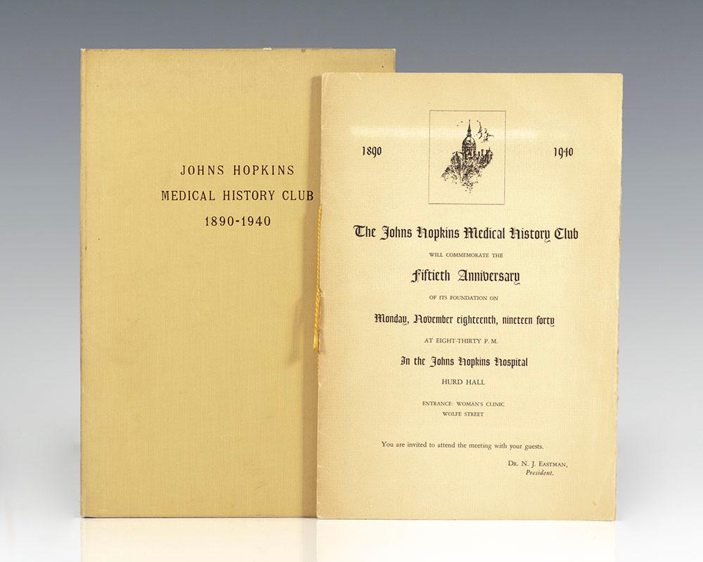The Johns Hopkins Medical History Club Fiftieth: Eastman, Dr. Nicholson