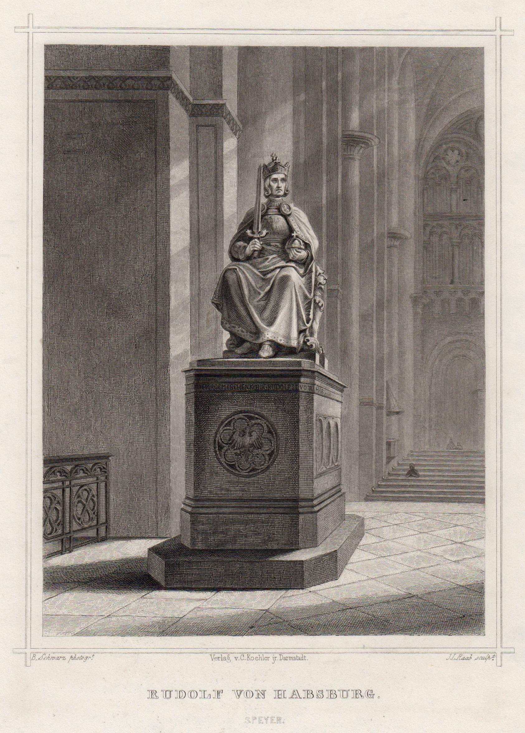 """TA., Denkmal, """"Rudolf von Habsburg"""".: Speyer:"""