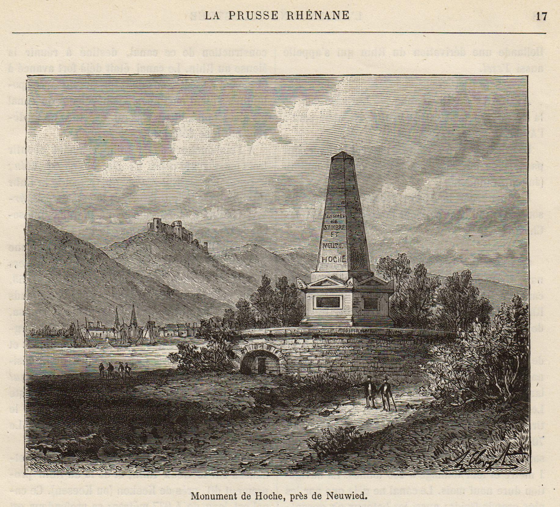 TA., Hoche-Denkmal m. Blick über Rhein n.: Neuwied: