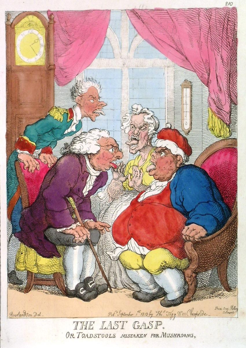 THE LAST GASP. OR TOADSTOOLS MISTAKEN FOR: Rowlandson.