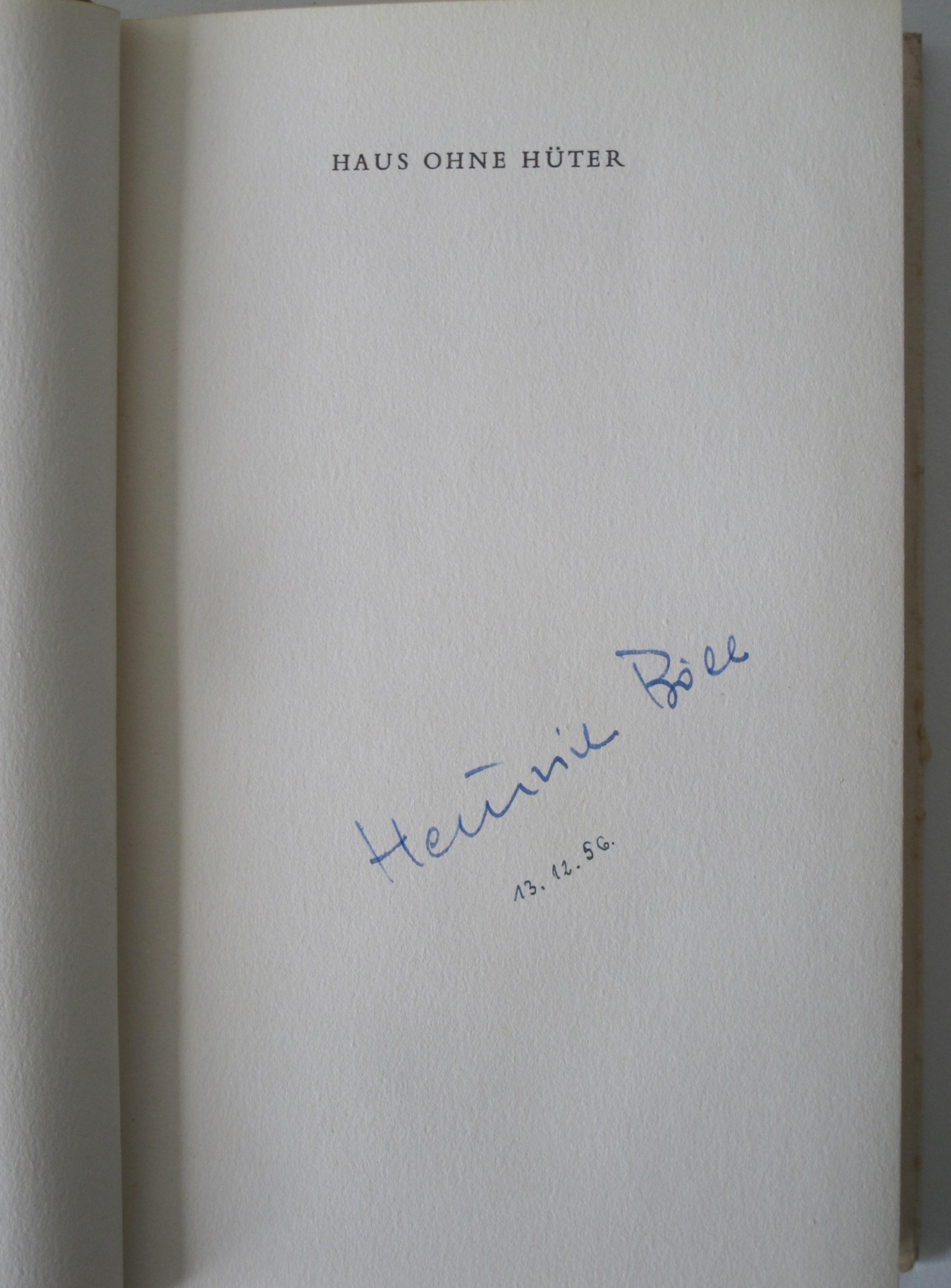 Haus ohne Hüter. Roman.: Böll, Heinrich