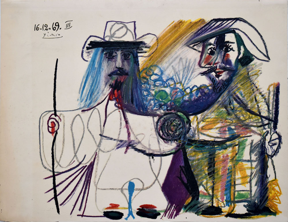 16.12.69. III. [Farb-Offsetlithografie / offset lithograph].: Picasso, Pablo: