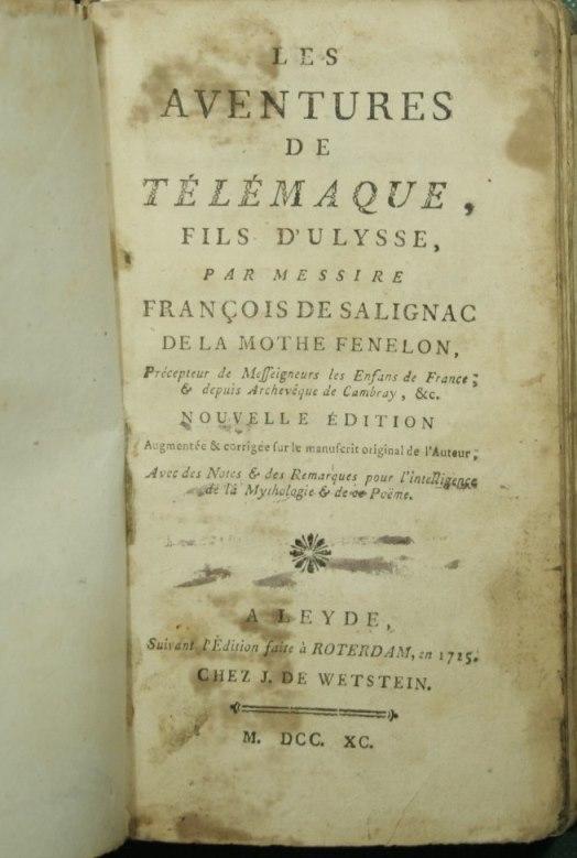 Les aventures de Telemaque, fils d'Ulysse: Fenelon Francois -