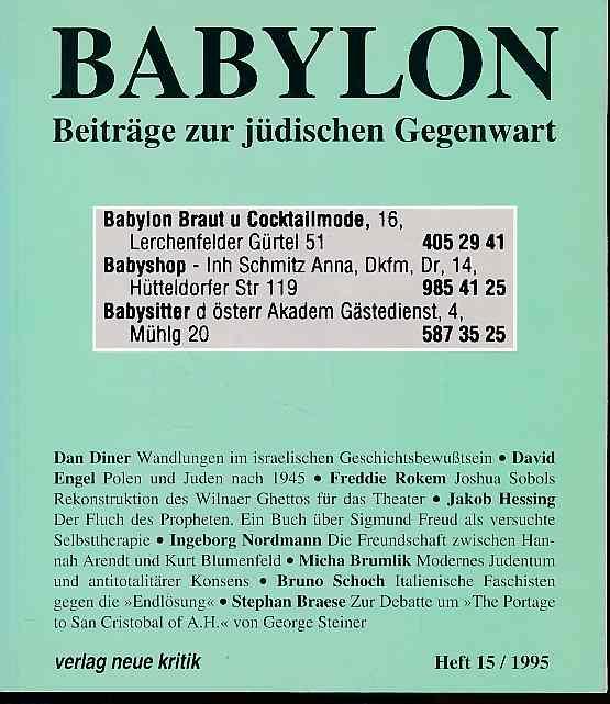 Babylon. Beiträge zur jüdischen Gegenwart. Heft 15,: Brumlik, Micha, Dan