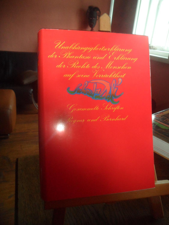 Unabhängigkeitserklärung der Phantasie und Erklärung der Rechte: Dali, Salvador /