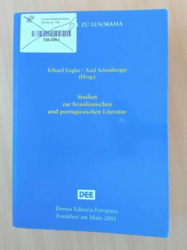 Studien zur brasilianischen und portugiesichen Literatur.: Engler, Erhard und