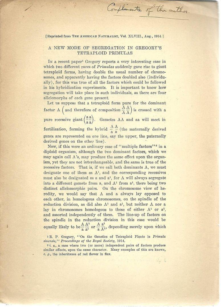 54 offprints, reprints Hermann J. Muller Nobel: Muller, Hermann J.