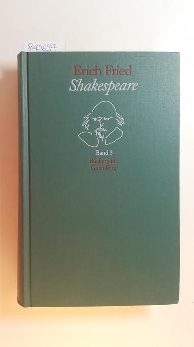 27 Stücke . - Teil: Band. 3.: Shakespeare, William