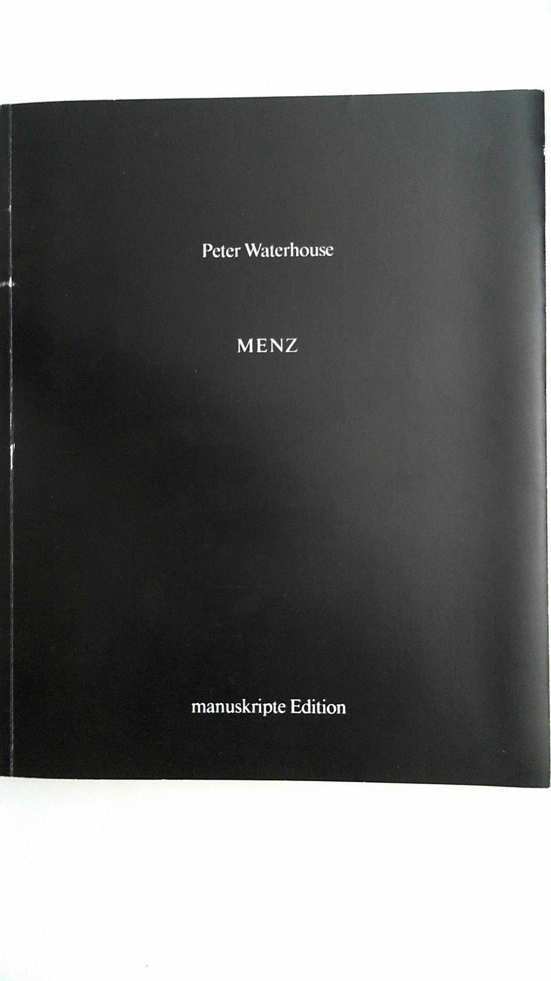 Menz : Gedichte.: Waterhouse, Peter: