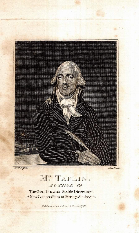 Mr. Taplin. Author of The Gentleman's Stable: Taplin, William (1740?-1807):