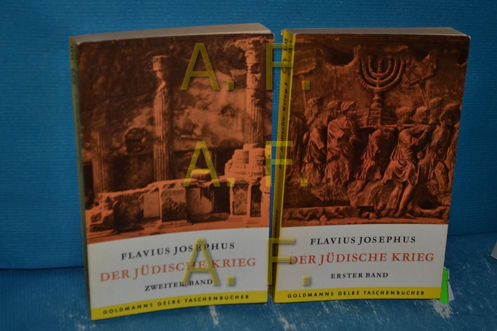 Der Jüdische Krieg in 2 Bänden Goldmanns: Flavius, Josephus: