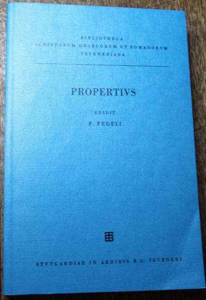 Properti elegiarum libri IV Vol. III. De: Fedeli, Paolo und