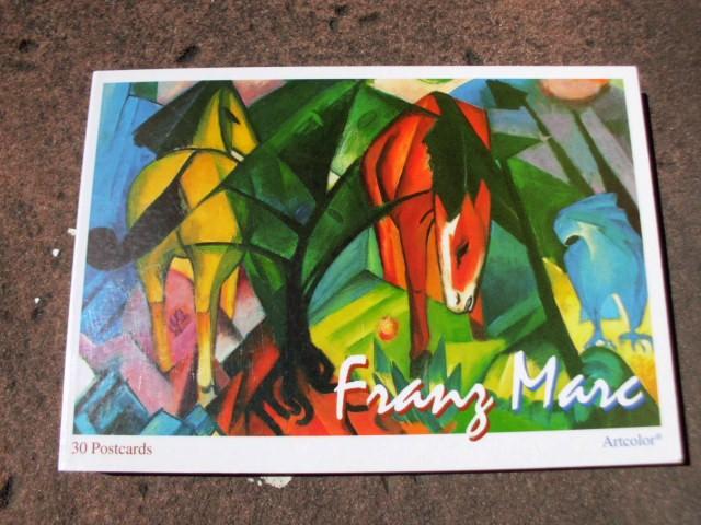 27 (von 30) farbige Postkarten mit Begleittext: Marc, Franz