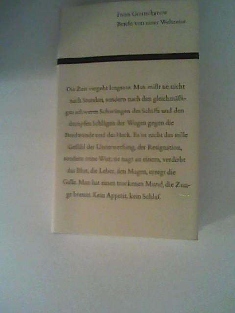 Briefe von einer Weltreise.: Gontscharow, Iwan.: