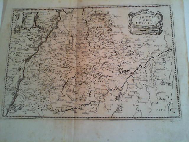"""Kupferstich- Karte, bei Merian, """"Wirtenberg ducatus"""".: Württemberg ( Herzogtum"""