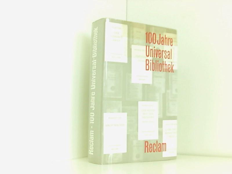 100 Jahre Reclams Universal-Bibliothek. 1867-1967, Beiträge zur: Verlage.: