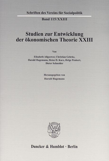 Ökonomie und Technik.: Studien zur Entwicklung der: Hagemann, Harald (Hg.):