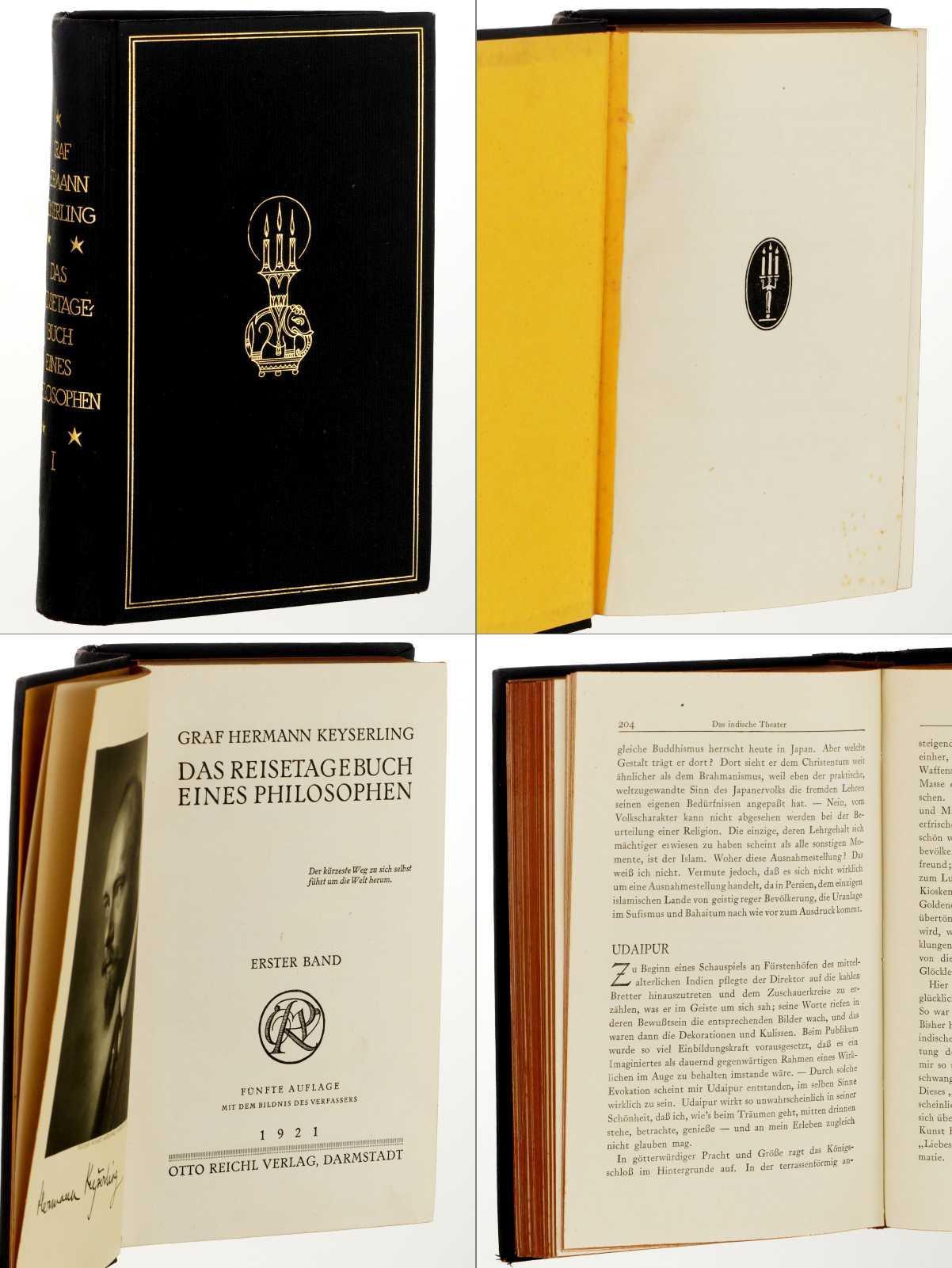 Das Reisetagebuch eines Philosophen. Band 1 (von: Keyserling, Hermann: