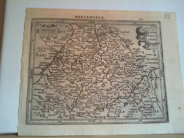 Wirtemberg. - Wirtenberg Ducatus. Petrus Kaerius Caelavit.: Württemberg ( Herzogtum