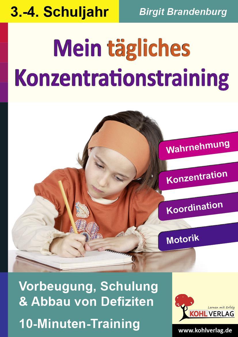 Kohls Konzentrationstraining - 3.-4. Schuljahr - Brandenburg, Birgit