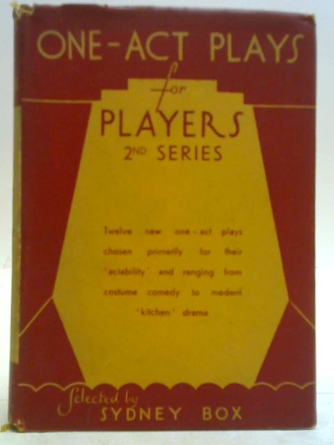 One-Act Plays for Players: 2nd Series: Sydney Box (Ed.)