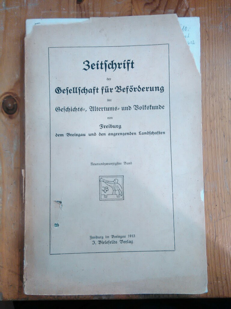 Zeitschrift der Gesellschaft für Beförderung der Geschichts-,: Läufer, Emil, Adolf