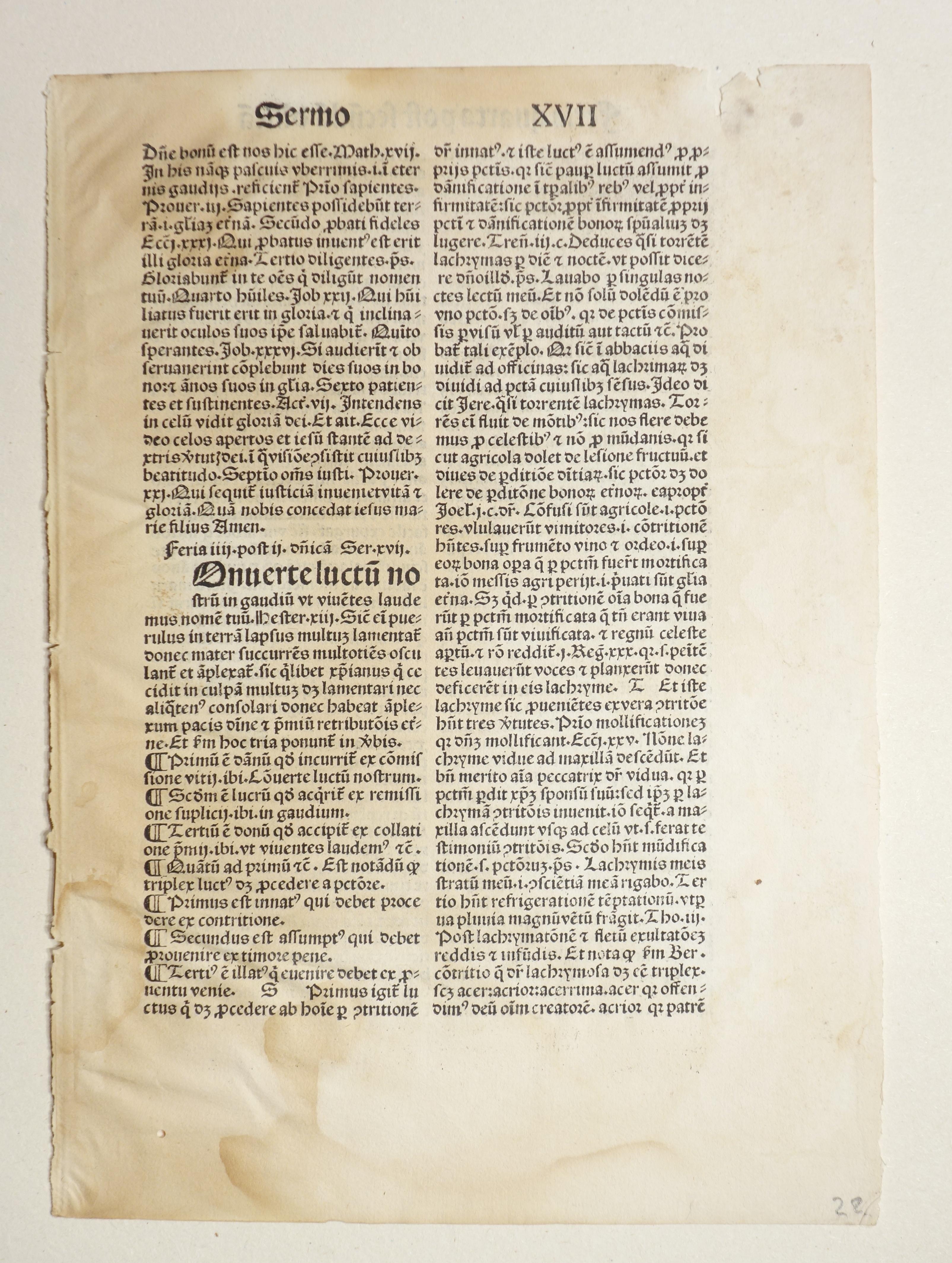 Quadragesimale super epistolas (GWM 28157, HC 13627).: Petrus de Orbellis: