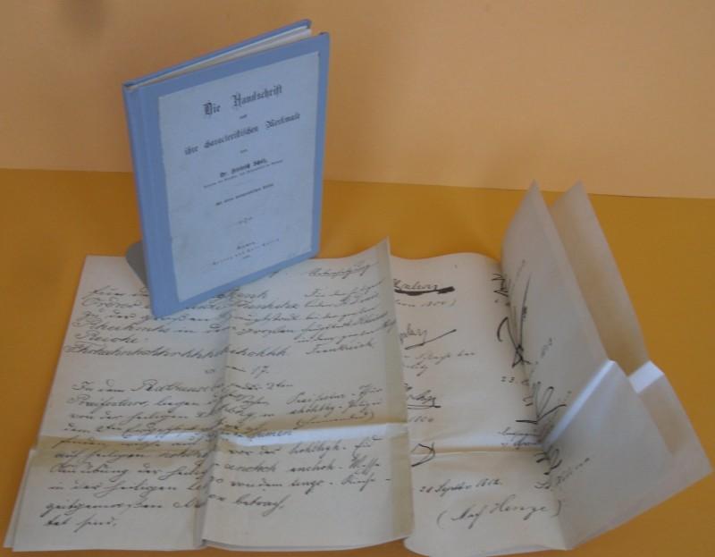 Die Handschrift und ihre characteristischen Merkmale. Mit: Scholz, Friedrich