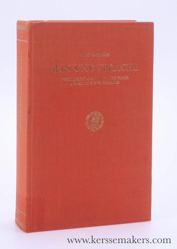 Sein und Sprache. Historische Grundlegung einer Ontologie der Sprache. - Kobusch, Theo.